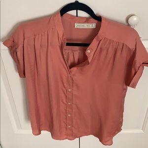 Pink Silk Button Down